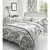 Catherine Lansfield Printed Lace Super King Size Cotton Quilt Set Multi