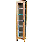 Aspen - Solid Wood + Glass Display / Storage Cabinet - Natural