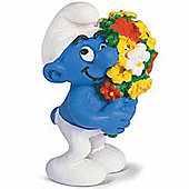Schleich Smurf Favourites Smurf with Flowers