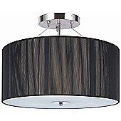 Home Essence Twine Ii Three Light Twine ll Semi Flush Ceiling Light in Black