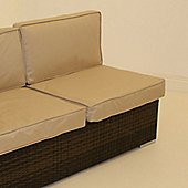Maze Rattan Barcelona Modular Middle Seat - Mixed Chocolate