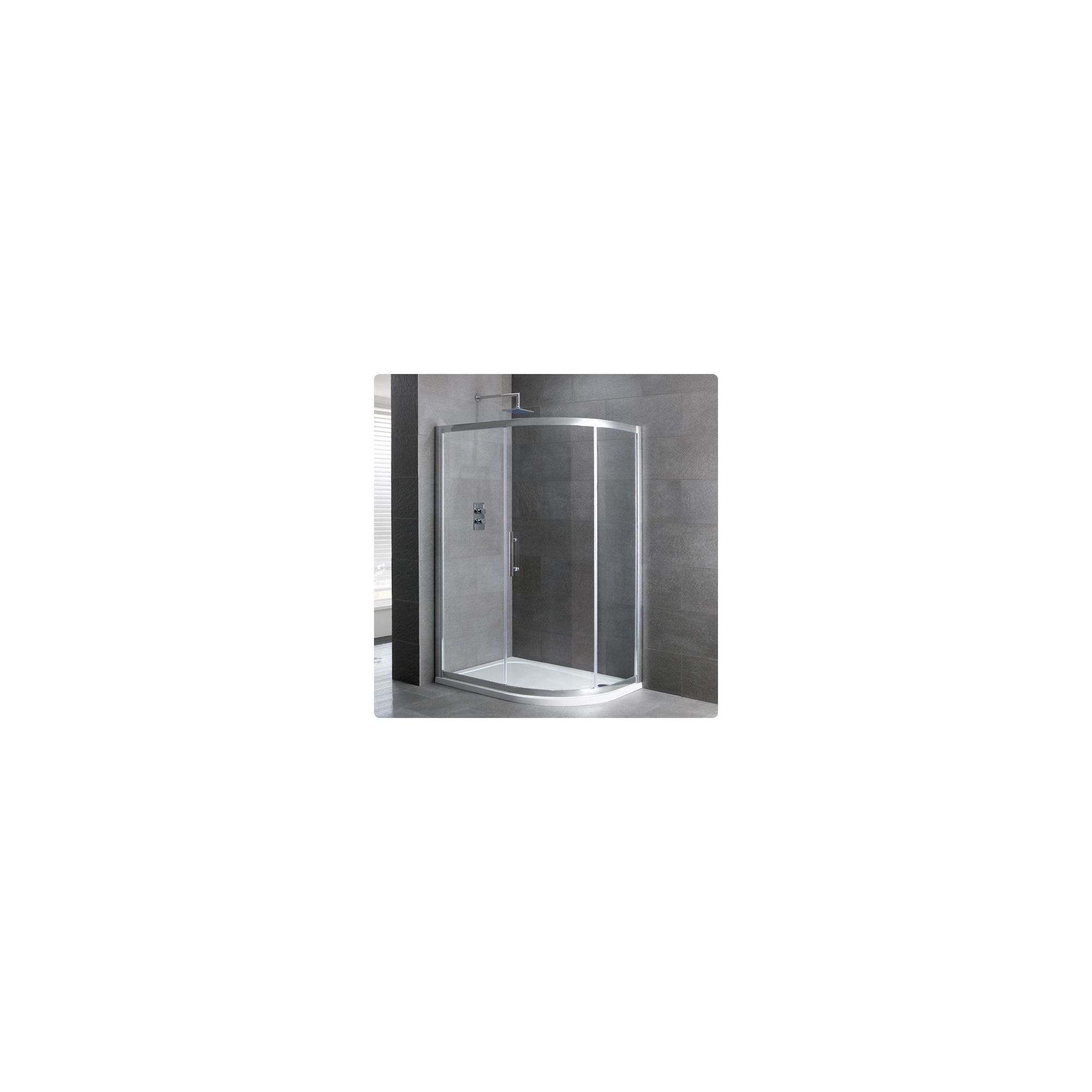 Duchy Select Silver 1 Door Offset Quadrant Shower Enclosure 900mm x 800mm, Standard Tray, 6mm Glass at Tesco Direct