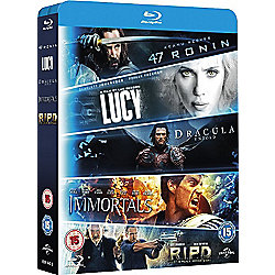 Blu ray starter pack (5 films): Lucy, Dracula Untold, 47 Ronin, Immortals, R.I.P.D