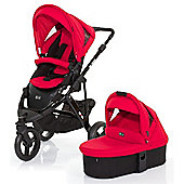 ABC Design Cobra 3 in 1 Pushchair & Carrycot (Black/Cranberry)