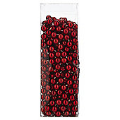 Red Bead Chain Christmas Tree Decoration, 5m