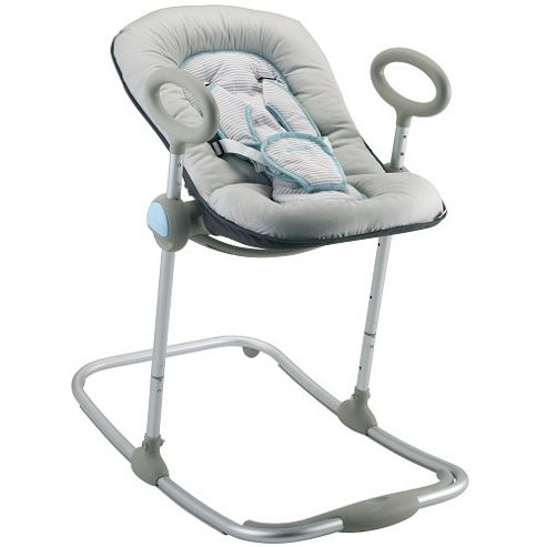 Beaba Bouncer Up & Down Baby Rocker Chair, Grey/Turquoise