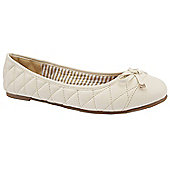 Emilio Luca X Ladies Wide Fit Madeira Beige Ballerina Shoes