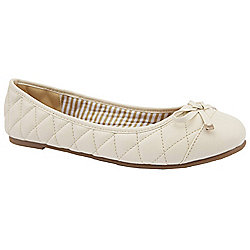 Ladies Emilio Luca X Wide Fit Madeira Beige Ballerina Shoes