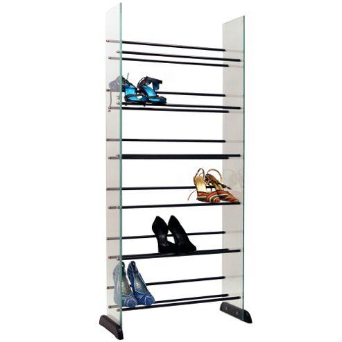buy garde 6 tier 18 pair glass shoe boot storage. Black Bedroom Furniture Sets. Home Design Ideas