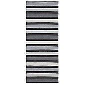 Swedy Baia Black Rug - Runner 60 cm x 180 cm (2 ft x 5 ft 11 in)