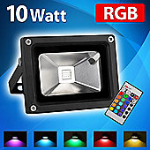 MiniSun 10W RGB LED Remote Control Colour Changing Floodlight