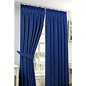 Viva Pencil Pleat Curtains 117 x 137cm - Blue