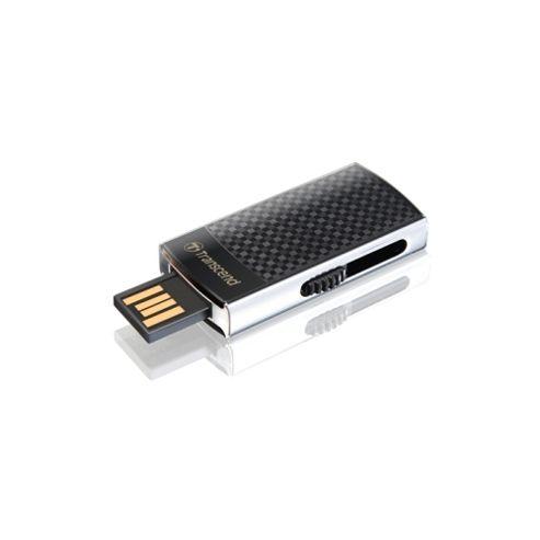 Transcend JetFlash 560 16 GB Flash Drive, Black, 1 Pack, USB 2.0, External