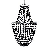 Paignton Ceiling Pendant Light Shade Chandelier in Chrome & Black