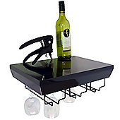 Monteray - Wall Mounted Wine Glass Storage Shelf - Black