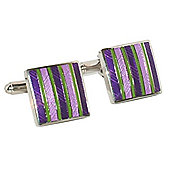 Cliff - Purple Striped Enamel Cufflinks