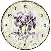 Smith & Taylor Chic Lavande De Provence Wall Clock