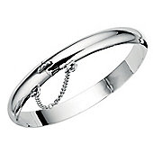 Hinged Sterling Silver Plain Child's Bangle