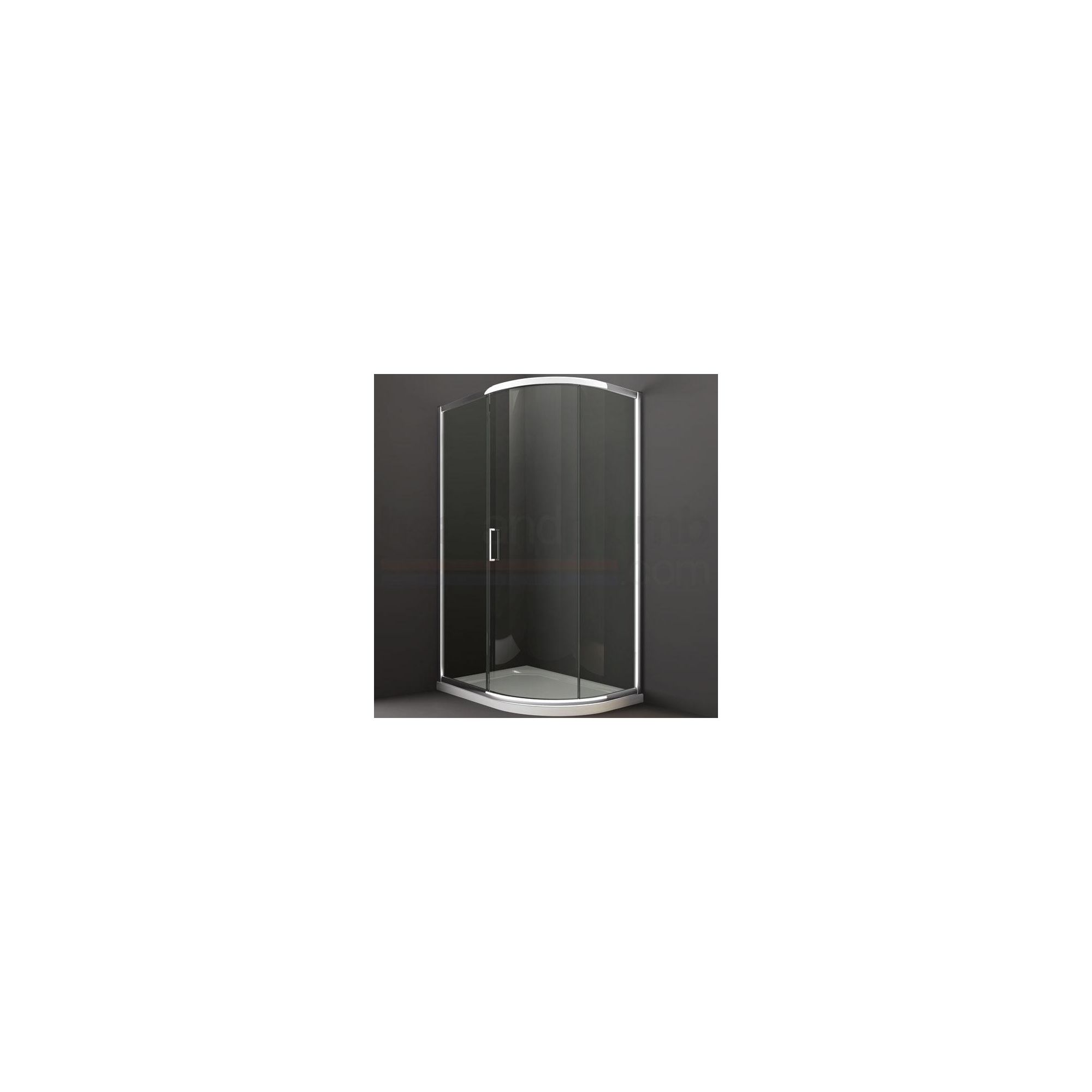 Merlyn Series 8 Sliding 1 Door Offset Quadrant Shower Enclosure, 900mm x 760mm, Low Profile Tray, 8mm Glass at Tescos Direct