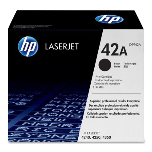 HP 42A Black Smart Print Cartridge (Yield 10,000 Pages) for HP LaserJet 4240, 4250, 4350