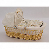 Clair de Lune Keepsake Palm Moses Basket - Natural