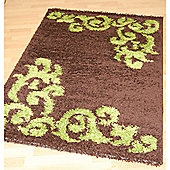 Origin Red Lotus Chocolate / Lime Rug - 150cm x 80cm
