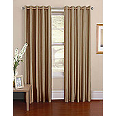 Venezia Ready Made Pencil Pleat Curtains - Fully Lined - 6 Colours Available - Brown