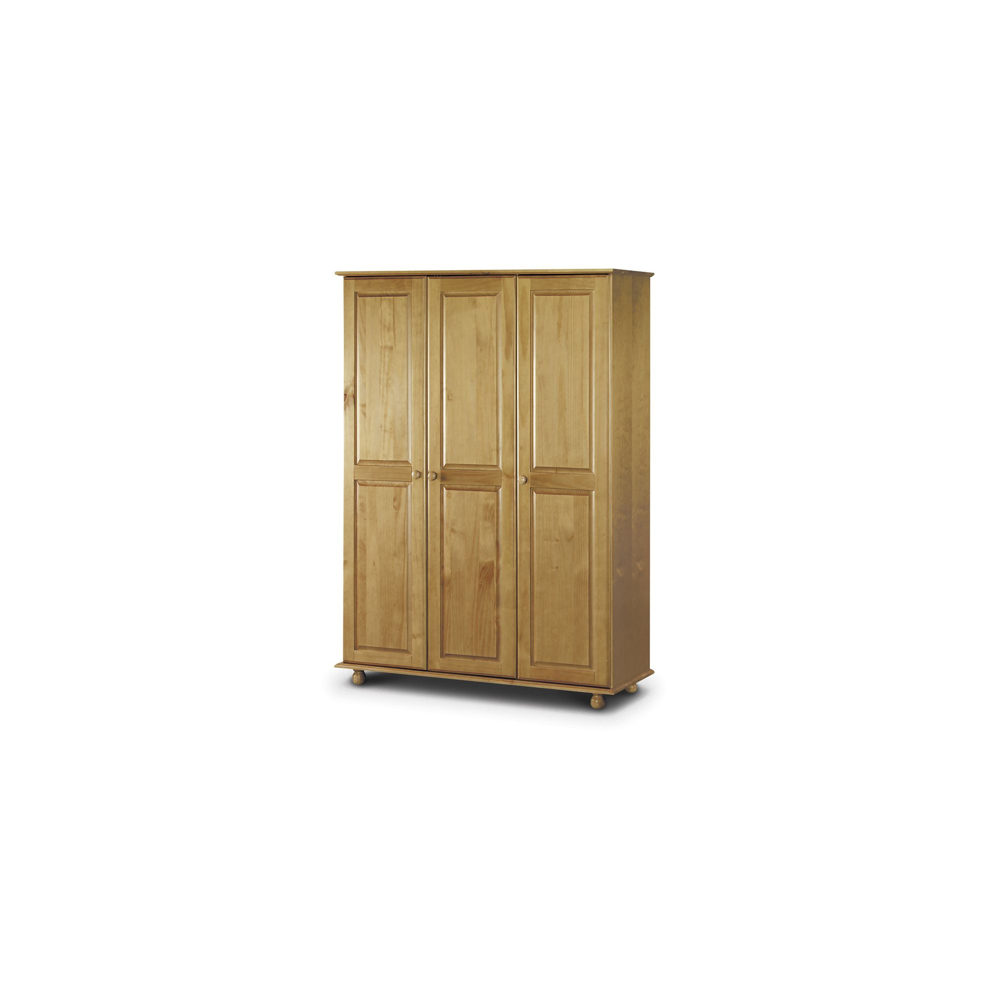 Julian Bowen Pickwick 3 Door Wardrobe with Pine Fitted in Solid Pine at Tesco Direct