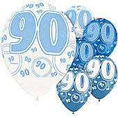 90th 12' Latex Balloons (6pk)