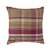 McAlister Heritage Cushion Cover - Mulberry Wool Look Tartan Check