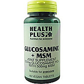 Health Plus Glucosamine + MSMVegan 60 Veg Tablets
