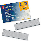 Rexel Staples No56 6mm Pack of 1000 06131