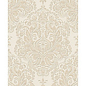 Superfresco Melody Shimmer Damask Natural Wallpaper
