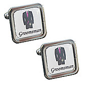 Fuschia Tie - Groomsman Wedding Cufflinks