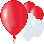 "Red and White 9"" Latex Balloons (50pk)"