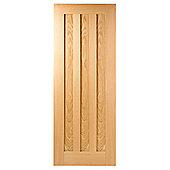 LPD Doors Idaho Oak Interior Fire Door - 198.1 cm H x 76.2 cm W x 4.4 cm D