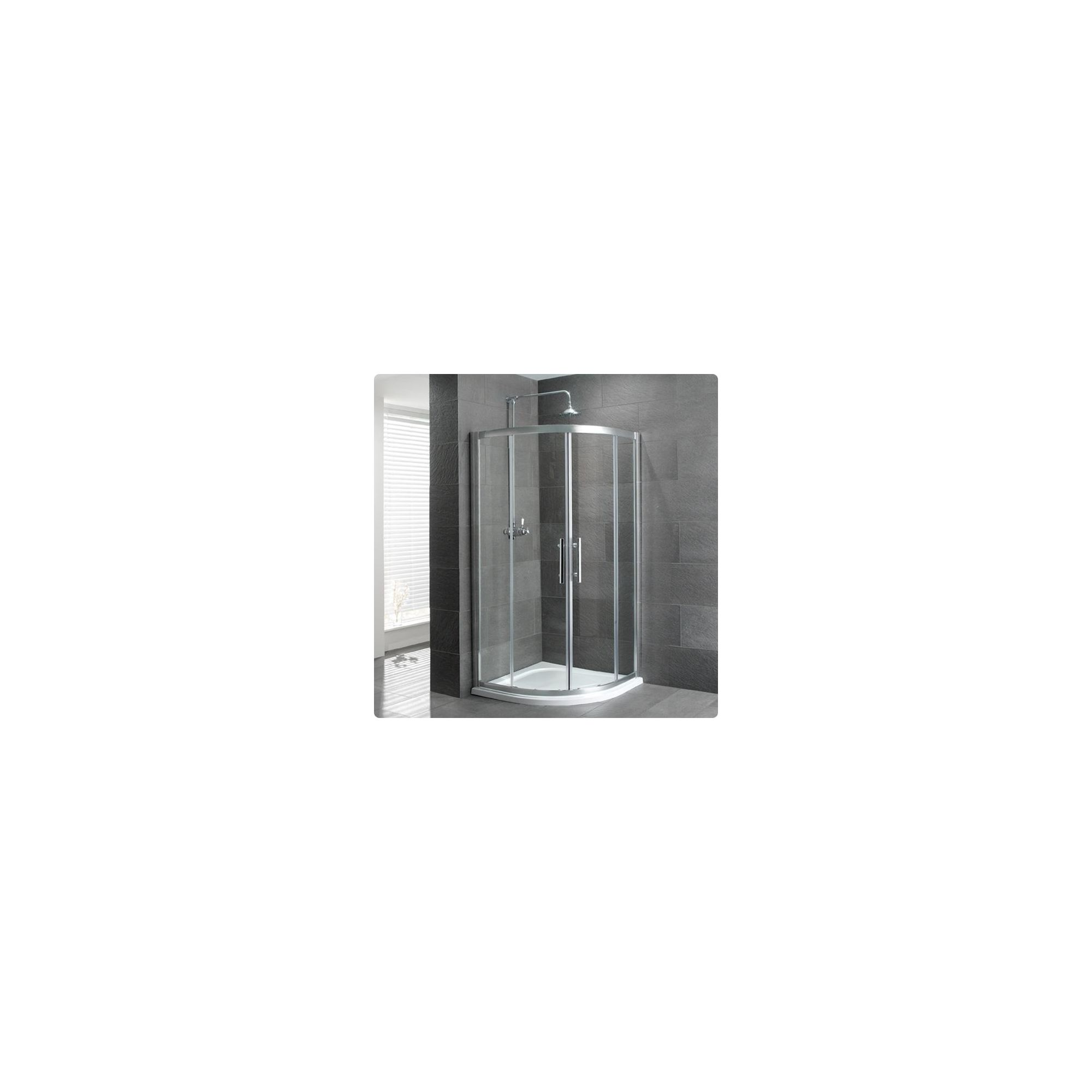 Duchy Select Silver 2 Door Quadrant Shower Enclosure 1000mm, Standard Tray, 6mm Glass at Tesco Direct