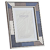 Tesco Blocked Gold And Black Photo Frame 5 x 7""