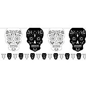 Skull & Rose Bunting - 3.65m Halloween Decoration