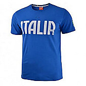 2014-15 Italy Puma Graphic T-Shirt (Blue) - Kids - Blue