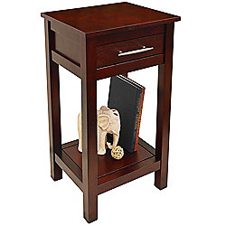 Kyoto - Solid Wood Storage Telephone / End Table - Wenge