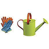 Briers Kids Watering Can & Plain Gloves