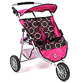 Chic Toys Twin Jogger Buggy Circles