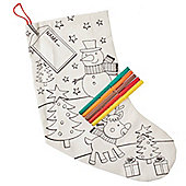 Colour Your Own Christmas Stocking - Snowman