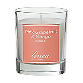 Linea Pink Grapefruit & Mango Jar Candle - Unboxed In PinkFrom