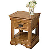 French Chateau Solid Oak Lamp Table