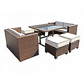 Barcelona Sofa Cube Set in Chocolate Mix and Coffee Cream (7 piece)