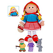 Fiesta Crafts Red Riding Hood Hand & Finger Puppet Set