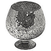 Home Essence Glass Mosaic Small Hurricane - Black