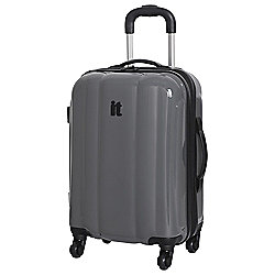 IT Luggage Mojave 4-Wheel Small Pewter Suitcase